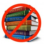 high school books with prohibited symbol